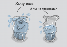 Иллюстрация для бренда Пьяные стаканы