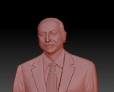 3д-рельеф: портрет президента Азербайджана Алиева