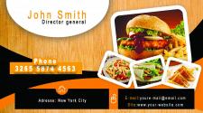 Дизайн примера визитки для ресторана или шеф