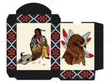 Spielkarten Indians- Farbig1