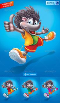 Hedgehog-Mascot