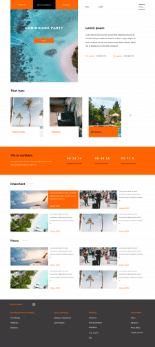 Концепт Landing page для тур агенства