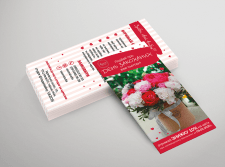 флаер для цветочного магазина
