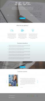 Дизайн сайта по предоставлению юридических услуг
