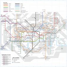 Карта метрополитена Лондона