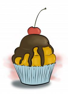 Иллюстрация кекса