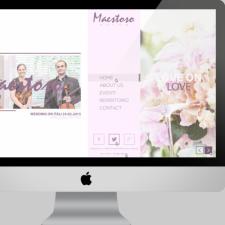 Дизайн главной страницы сайта Maestoso