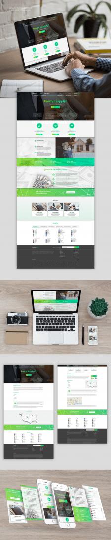 Дизайн сайта на тему финансов