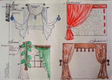 Дизайн Штор. Текстильный дизайн. Дизайн Окон