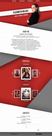 Сайт - портфолио актрисы, модели.