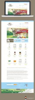 Дизайн сайта Молока