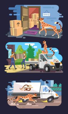 Иллюстрации для грузоперевозок