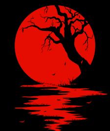 Алая луна