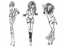 Девушки вектор