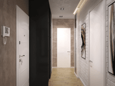 Двухкомнатная квартира 80 м2. Коридор