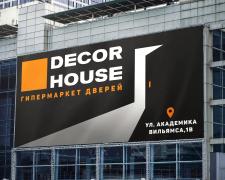 Минималистичный дизайн баннера для рекламы дверей
