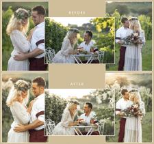 Обработка свадебной фотографии, пресет Lightroom