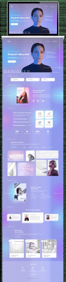 Сайт-визитка UI/UX designer