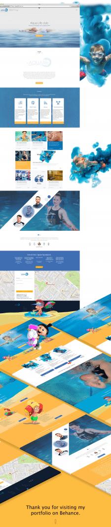 Сайт визитка под ключ для Басейна в Киеве