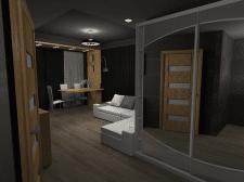 Кухня-студия в двух комнатной квартире