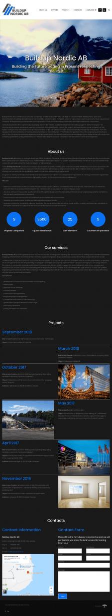 Создание сайта для строительной фирмы на WordPress