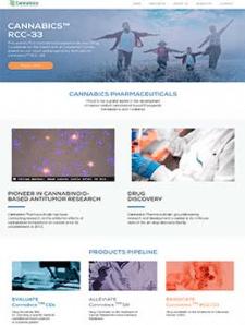 Сайт визитка для лаборатории Cannabics
