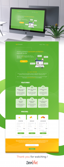 Outreach service landing page