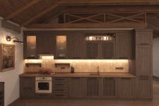 Дом для отдыха в пгт Ворзель. Кухня