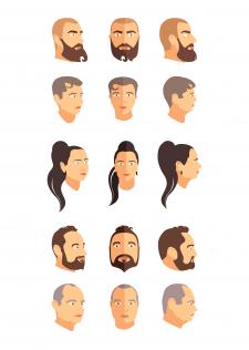 Стилизация лиц персонажей для видеоклипа