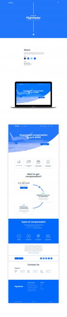 Landing Page для сервиса авиаперелетов