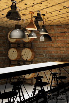 Визуализация зала ресторана в Днепроперовске