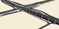 Моделирование участка автодороги для игры