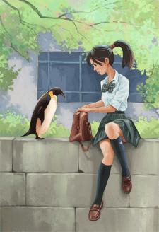 Девушка и пингвин