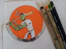 Внеземной бейсбол, стикер
