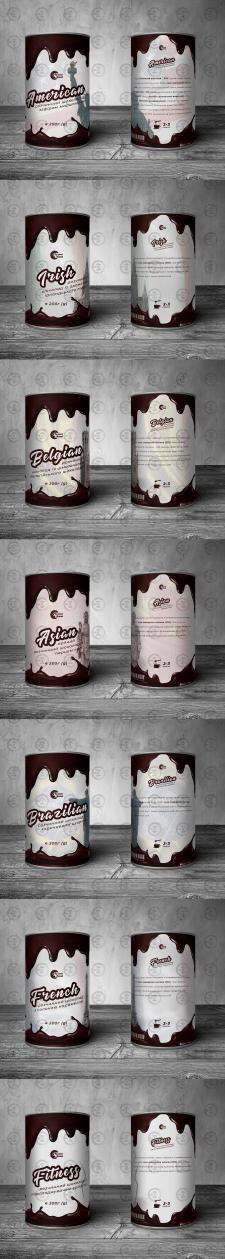 Дизайн упаковок для горячего шоколада
