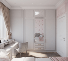 Визуализации детской комнаты для девочки.