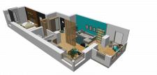 3D модель плана квартиры