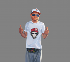 CG, cartoon portrait
