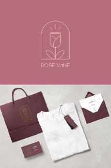 ROSE WINE - Разработка логотипа для бара