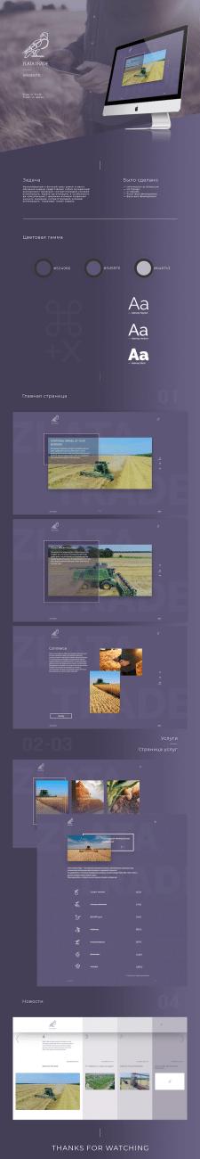 Корпоративный сайт для зернового трейдера