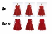 Ретушь платья невидимый манекен