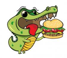 Создание интересной и яркой иллюстрации крокодила