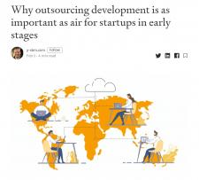 Статья об IT-аутсорсинге на английском для Medium