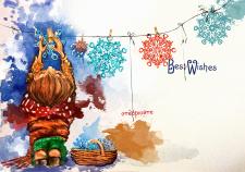 """""""Створюй"""", из серии открыток к новому году"""