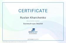 "Сертификат ""Базовый курс Serstat"""