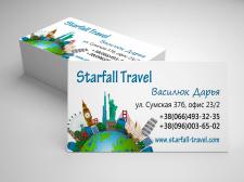 Дизайн визитки Travel