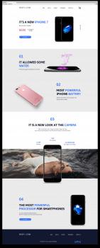 Landing page для iPhone7