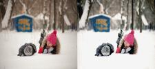 Зима цветокоррекция