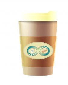 """Стакан для кофе. Кафе """"Coffe & Panini"""""""