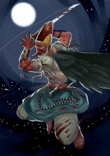 Иллюстрация мифического существа - Тэнгу